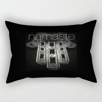 Namaste Hamsa Hand Rectangular Pillow by UMe Images
