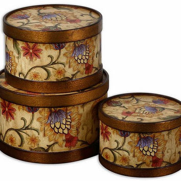 Uttermost Winola Colorful Metal Boxes, Set/3 - 19428