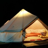 Glamping Waterproof Bell Shaped Tent