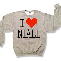 One Direction I Love Niall Horan Oxford Gray Sweatshirt x Crewneck x Jumper x Sweater - All Sizes Available