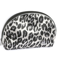Cheetah Print Make Up Pouch Black & White