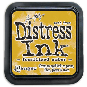 Distress Ink Pad-Fossilized Amber