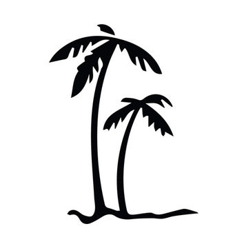 PALM TREES - Tropical Beach - Car, Truck, Notebook, Vinyl Decal Sticker Any Corlor