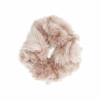 Faux Fur Scrunchie - Pink
