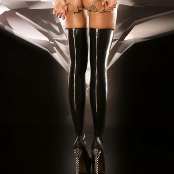 On Sale Hot Deal Sexy Cute Club Stylish Zippers Design Socks Exotic Lingerie [6596513923]