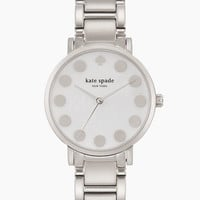 Kate Spade Gramercy Silver Dot Watch Stainless Steel ONE