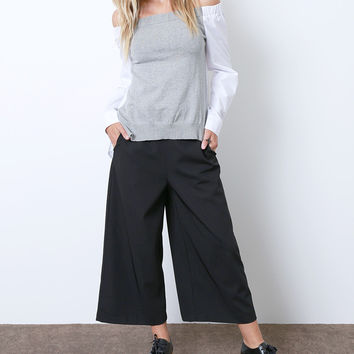 Talk About You Culottes short - Black
