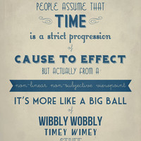 Dr. Who Timey Wimey Typography Poster / Poster by EntropyTradingCo