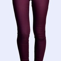 J Brand - Zoey Zip Power Stretch Jean - Lava