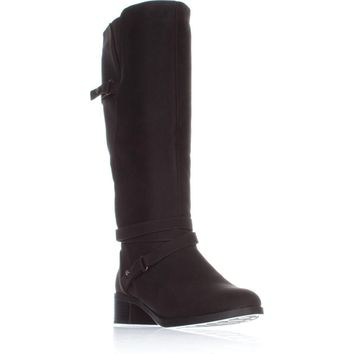 Easy Street Carlita Wide Calf Riding Boots, Brown, 8.5 US