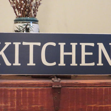 Kitchen custom wood sign - shelf sitter - wall hanging - home decor