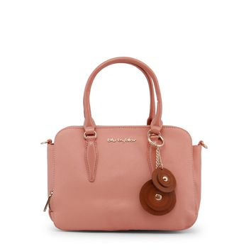 Blu Byblos Nude Leather Handbag