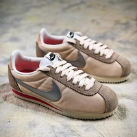 Nike Classic Cortez Gold Silver Sport Running Shoes - Best Online Sale 7d99563e4