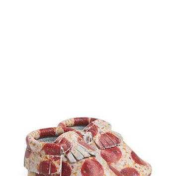 Freshly Picked 'Pizza' Leather Moccasin (Baby & Walker)   Nordstrom