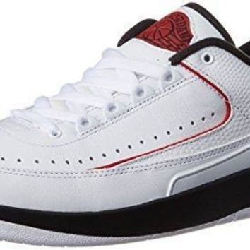 Nike Jordan Men's Air Jordan 2 Retro Low Basketball Shoe (11, White/Varsity Red Black)