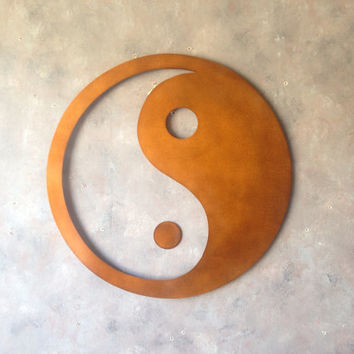 Giant Yin yang - Metal Wall Art - Bronze Art - Balance - Home Decor - Brown Art - Metal Art - Metal Decor - Wall Art