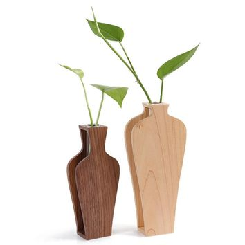 Creative wooden glass  vase Home Decoration