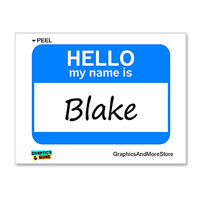 Blake Hello My Name Is Sticker