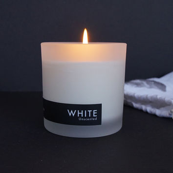 WHITE Soy Candle, 8oz