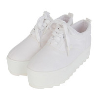 Simple Basic Platform Sneakers