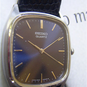 Vintage Seiko Mens Watch Vintage Seiko Blue by VillaCollezione