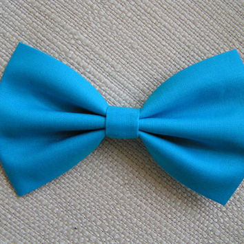 Aqua Blue-hair bow, Fabric Bow, Hair Bow for Girls, Bows