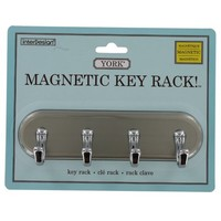 Interdesign 55470 Small Brushed Stainless Steel & Chrome Magnetic Key Rack - Walmart.com