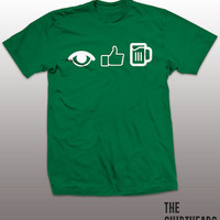I Like Beer Shirt - St. Patricks Day funny t-shirt, mens womens gift, Irish tshirt, green beer tee, shamrock, drinking graphic, icons