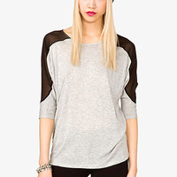 Dolman Mesh Panel Top | FOREVER 21 - 2021395536