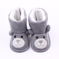 2016 Winter Super Warm Baby Girl Bebe Snow Red Boots Infant Toddler Buckle Solid Keep Warm Kids Footwear Soft Bottom Shoes