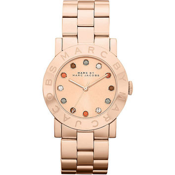Marc by Marc Jacobs MBM3142 Women's Amy Dexter Glitz Accent Dial Rose Gold Tone Stainless Steel Bracelet Watch
