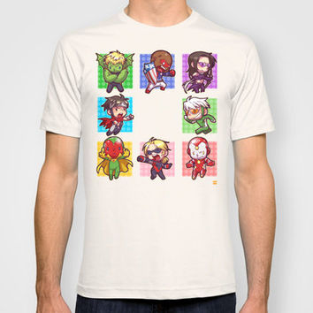 Young Avengers T-shirt by Waste-cabin