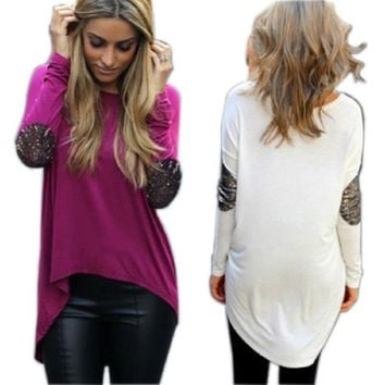 new Women Loose Long Sleeve T-shirt size sml