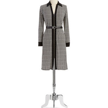 Michael Michael Kors Petite Houndstooth Patterned Dress