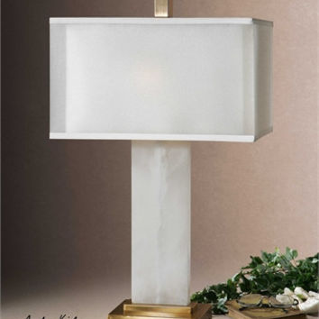 Uttermost Athanas Alabaster Lamp