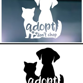 Adopt Don't Shop Vinyl Graphic Decal