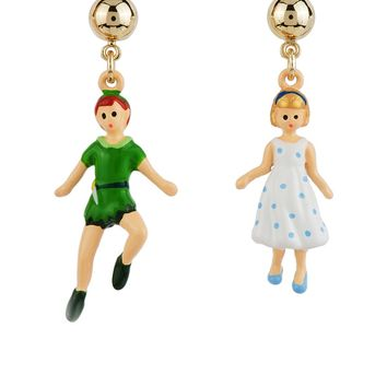 N2 by Les Néréides FLY WITH ME PETER AND WENDY PENDANT EARRINGS