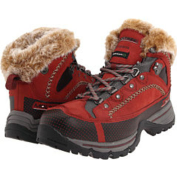 Mountrek Brook Path Mid Boots Red Primaloft 400 Gram Nubuk Fur Hiking 8.5 Shoes
