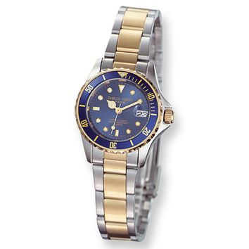 Ladies Two-Tone, Rotating Diver's Bezel Watch by Charles Hubert