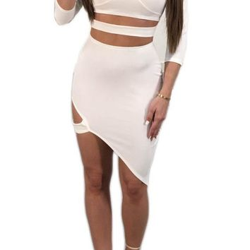 Hollow Out Sexy Bodycon Night Club Dress
