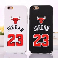 Case for iPhone 6 6S 7 Plus NBA brand Michael Jordan 23 PC Hard Phone Case Cover for i