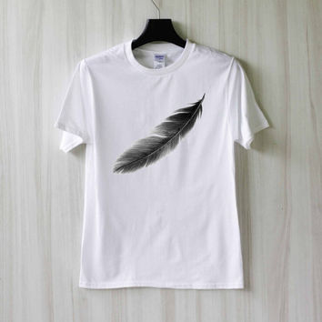 Feather Shirt T Shirt Tee Top TShirt – Size XS S M L XL