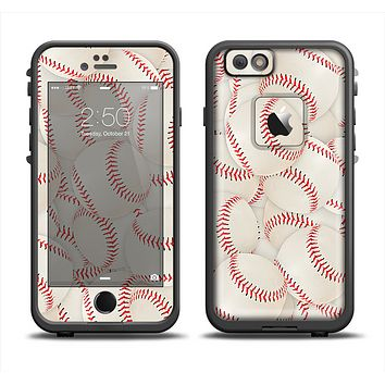 The Baseball Overlay Apple iPhone 6 LifeProof Fre Case Skin Set