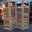 Handmade Primitive Room Divider / Movable Wall / Screen made from Antique Looking Wood - 7' Tall Four Panels w/ Open Top - Beautiful!