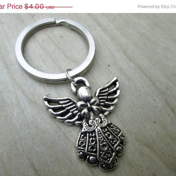 ON SALE Guardian Angel Keychain, Angel Keychain, Angels, Key Chain, Protection