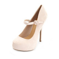 Sueded Mary Jane Platform Pump: Charlotte Russe