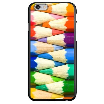 DistinctInk® Spigen ThinFit Case for Apple iPhone or Samsung Galaxy - Rainbow Colored Pencils