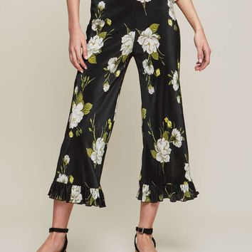 Floral Plisse Trousers | Missselfridge