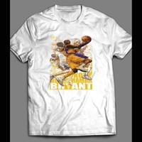 KOBE BRYANT BLACK MAMBA CUSTOM ART WHITE T-SHIRT