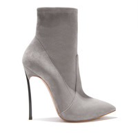 Women's Ankle Boots Blade in Suede Fog   Casadei